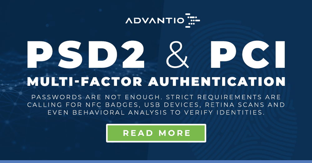 PSD2 Strong Customer Authentication (SCA) and PCI Multi-factor Authentication (MFA) compliance