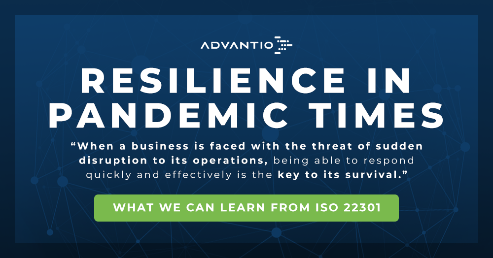 Resilience in pandemic times: what we can learn from ISO 22301