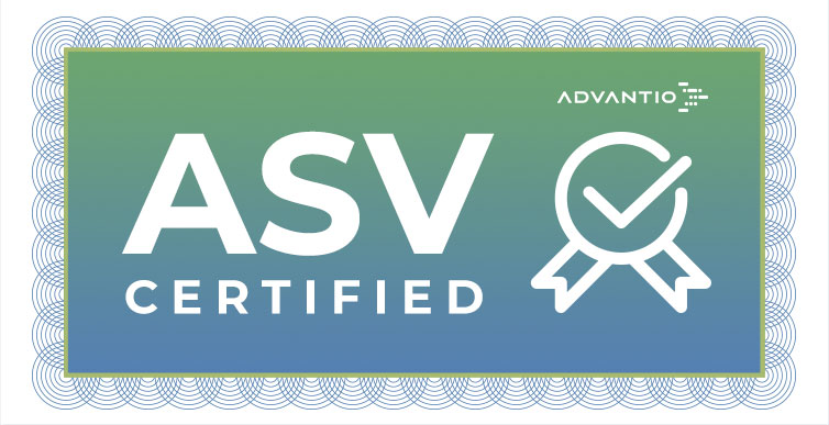 Advantio is certified as an Approved Scanning Vendor (ASV) by PCI SSC.